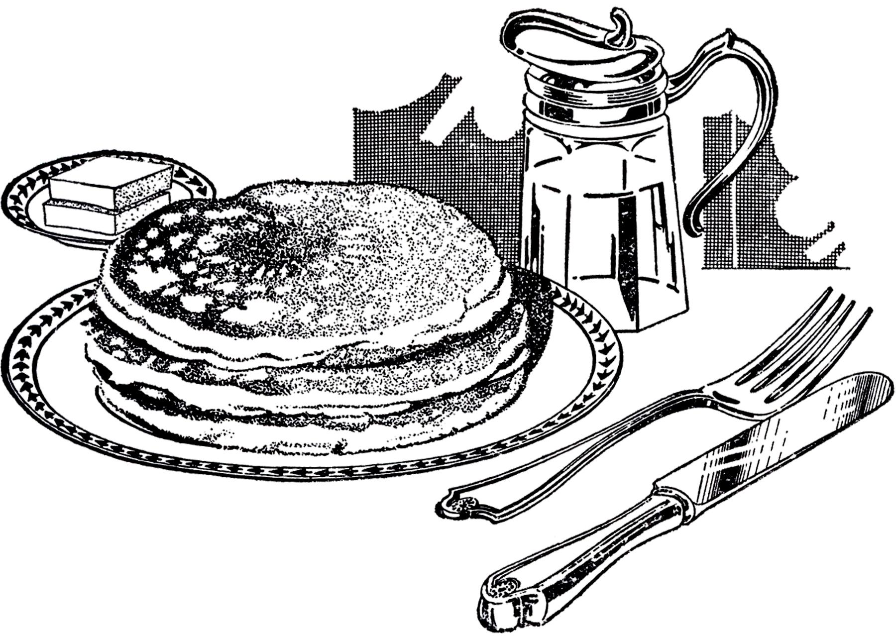 Fresh design digital d. Breakfast clipart black and white
