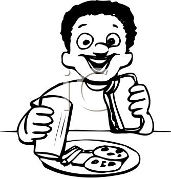 Breakfast clipart black and white, Breakfast black and white