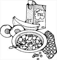 Panda free images breakfastclipart. Breakfast clipart black and white