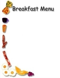 Breakfast clipart border. Pencil and in color