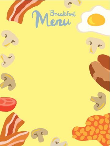 Breakfast clipart border. Free cliparts borders download