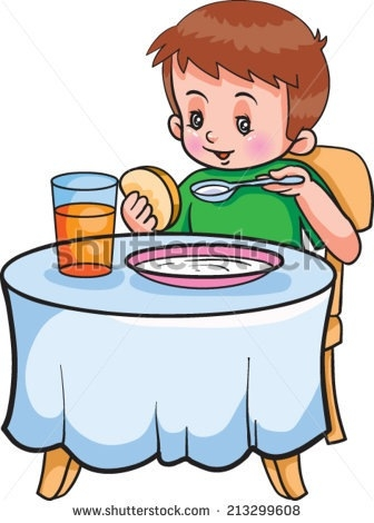 Breakfast clipart boy. Eating pancakes letters free