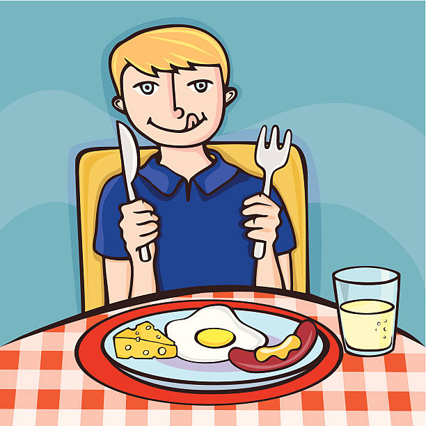 Breakfast clipart boy.  collection of person