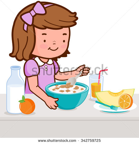 Veg eating pencil and. Breakfast clipart boy