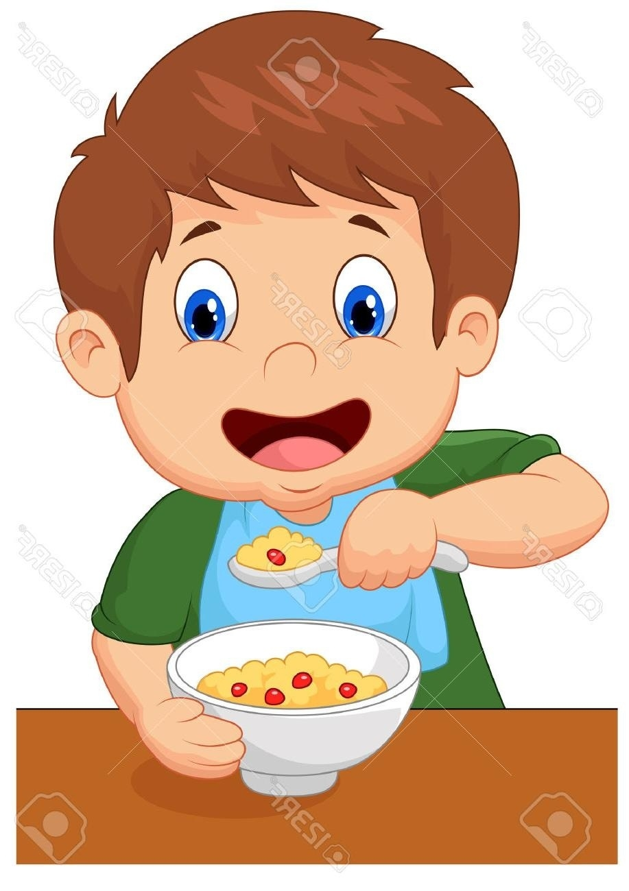 Breakfast clipart boy. Eating letters hd with