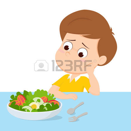 Eating for kids collection. Breakfast clipart boy