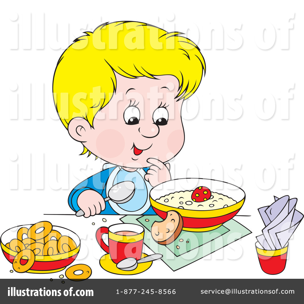 Breakfast illustration by alex. Cereal clipart child