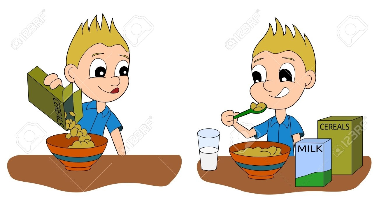 Breakfast clipart boy. Awesome eating collection digital