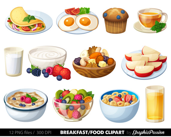 Breakfast food dessert clip. Brunch clipart meal