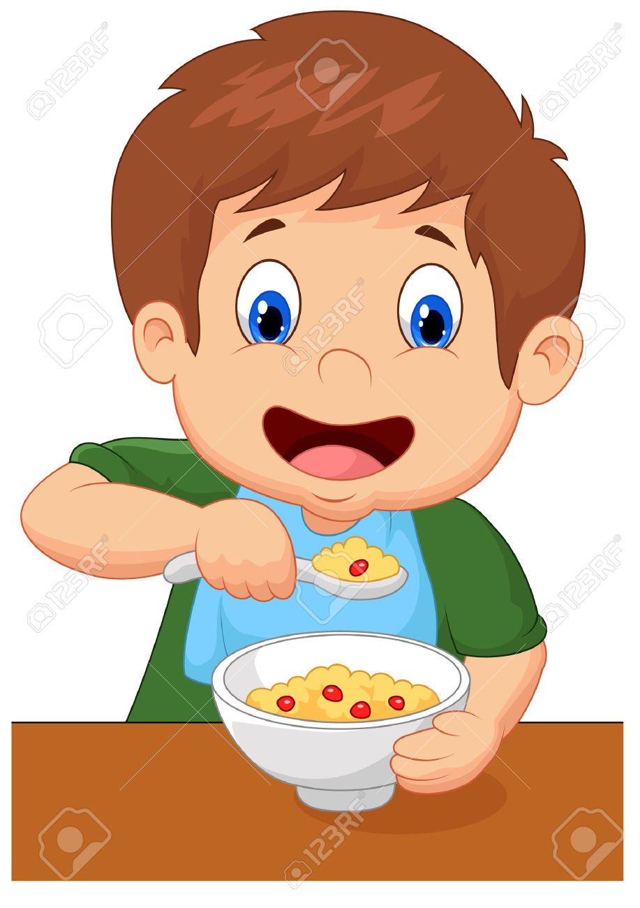 Eating breakfast collection time. Cereal clipart breakfest