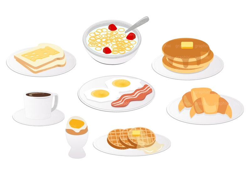 Vector pancake commercial use. Breakfast clipart breakfast meal