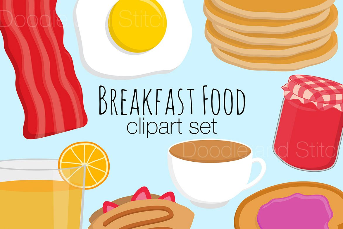 Breakfast clipart breakfast meal. Food illustrations