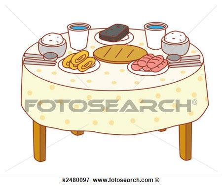 Clip art coho. Breakfast clipart breakfast table