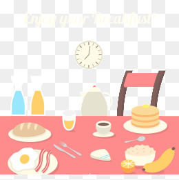 Png vectors psd and. Breakfast clipart breakfast table