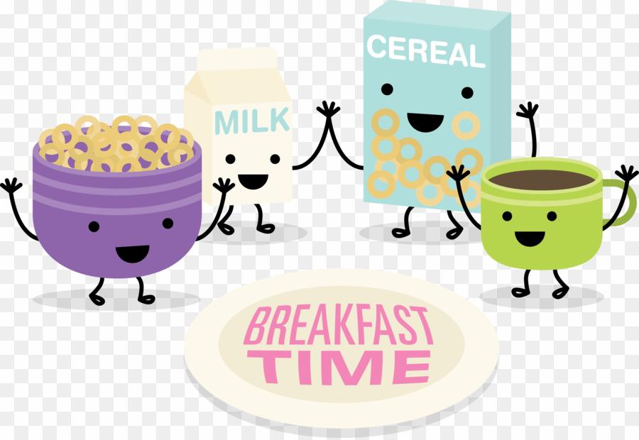 Breakfast clipart breakfast time. Cartoon png cereal download