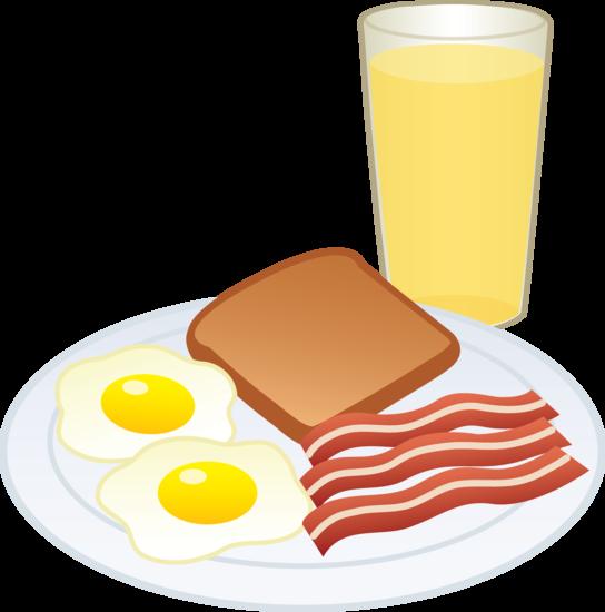 Brunch clipart meal. Cartoon breakfast