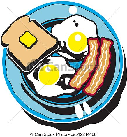 Breakfast clipart cartoon. Vector clip art panda