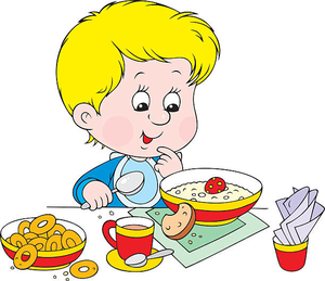 Breakfast clipart cartoon. Eating free images at