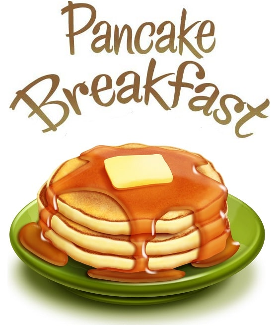 Pancake april at st. Breakfast clipart church