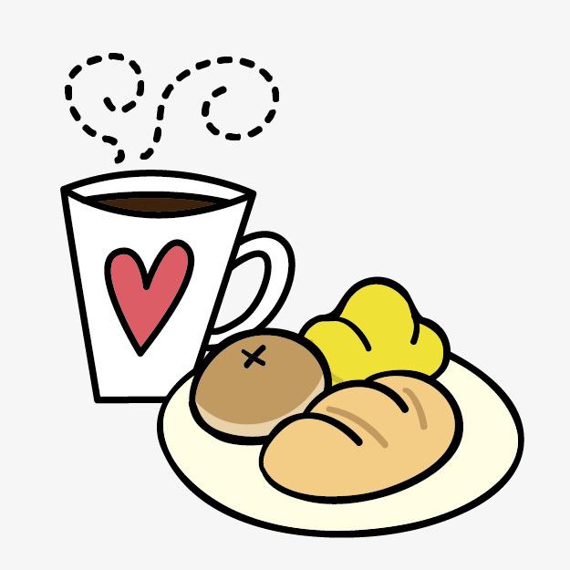 Cartoon bread lovely png. Breakfast clipart cute