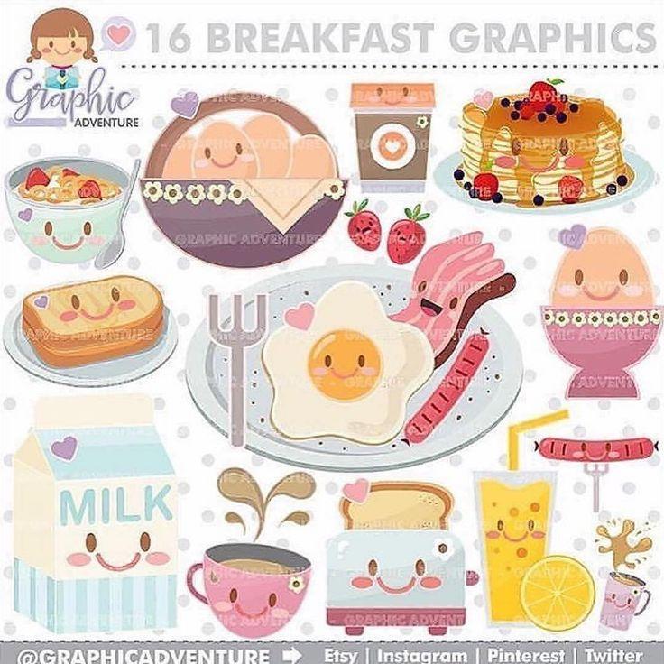 Breakfast clipart cute.  best food drink