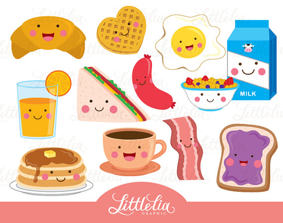 Kawaii from littleliagraphic on. Breakfast clipart cute