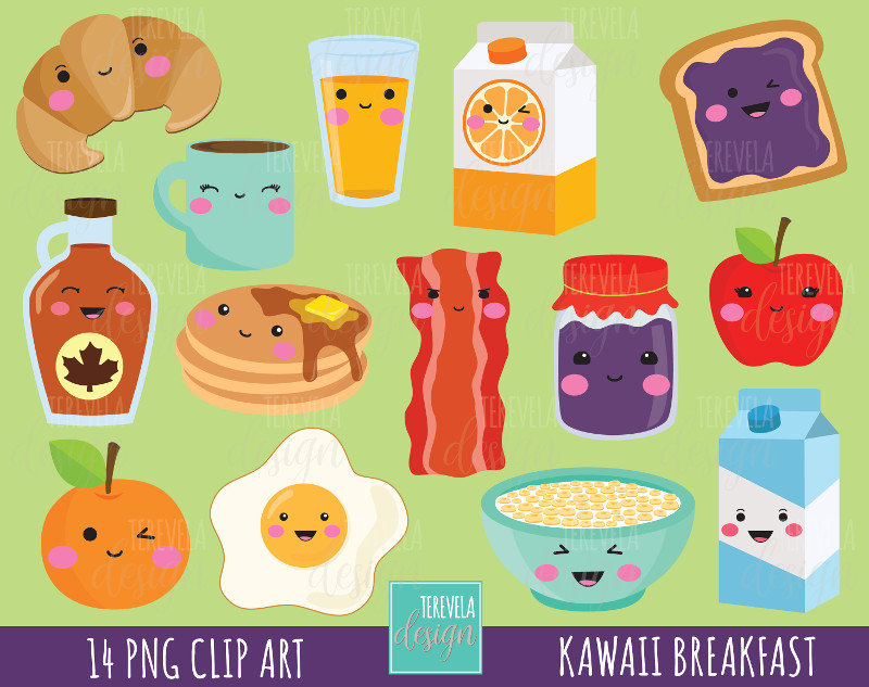 Breakfast clipart cute.  sale food graphics