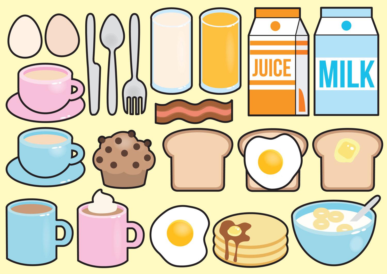Premium vector kawaii . Breakfast clipart cute