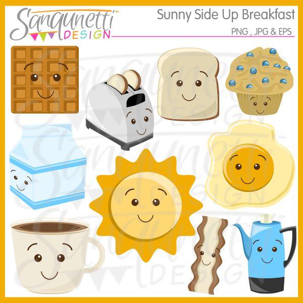 Breakfast clipart cute. Sanqunetti design sunny side