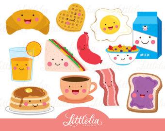 Waffle clipart cute. Breakfast etsy