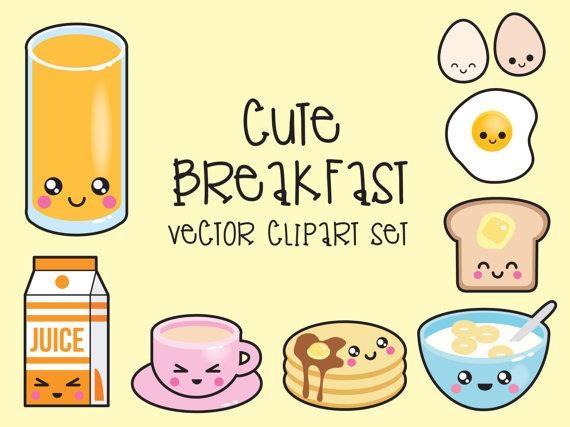 Breakfast clipart cute. Premium vector kawaii