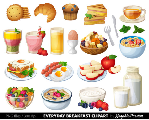 Breakfast cake clip art. Food clipart