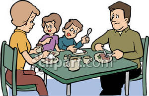Breakfast clipart family. Eating images pictures becuo