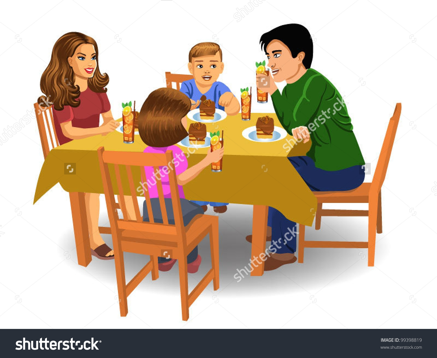 collection of eating. Breakfast clipart family