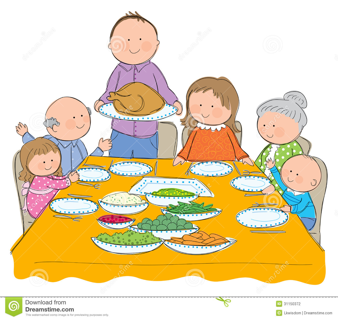 Breakfast clipart family.  collection of thanksgiving