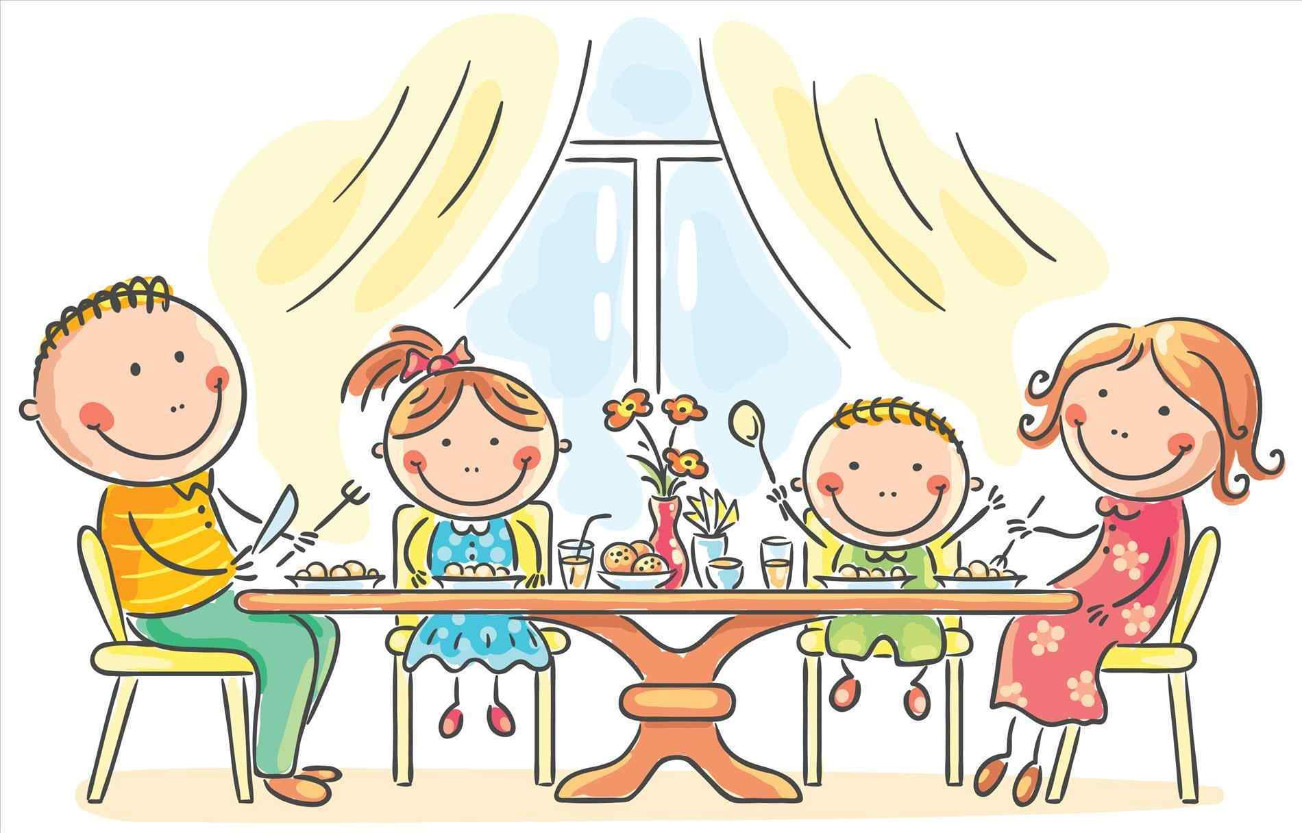 Breakfast clipart family. Nutritious pencil and in