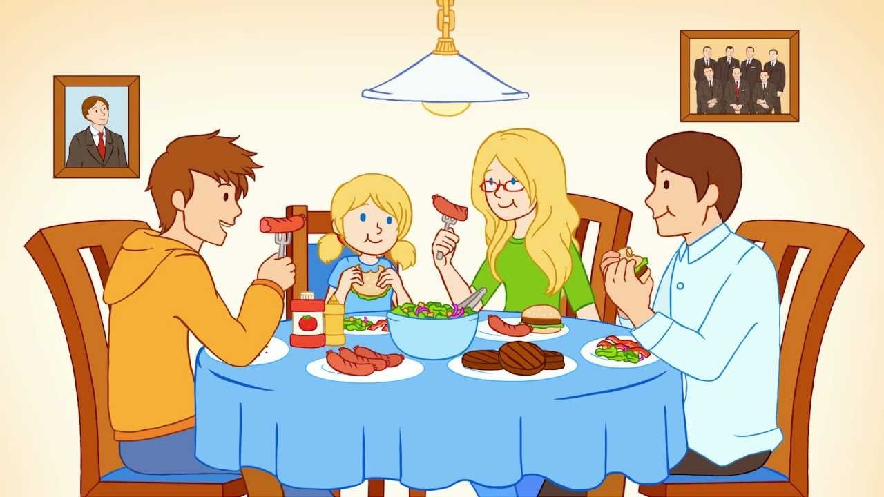 collection of having. Breakfast clipart family