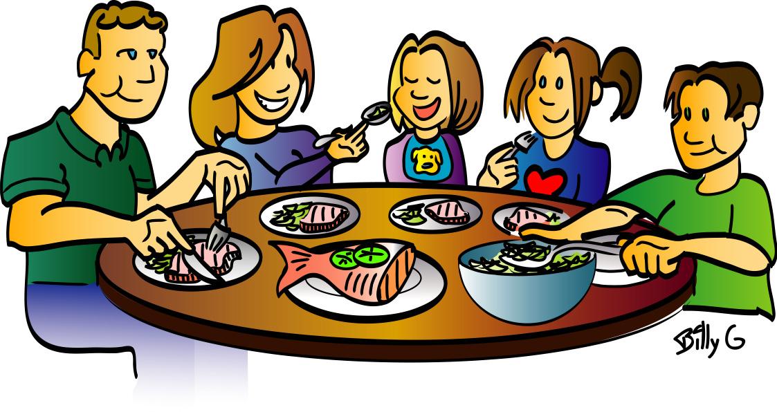 Breakfast clipart family. Eating