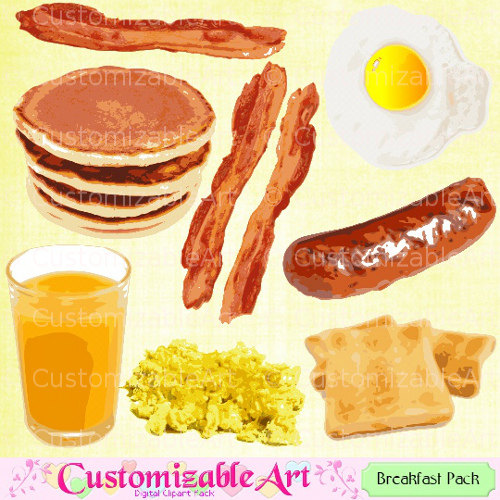 Bacon clipart breakfast. Food drink digital
