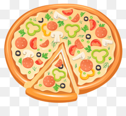 Pizza png and psd. Burger clipart clear background
