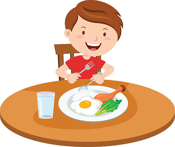 Breakfast clipart kid. Eating free images at
