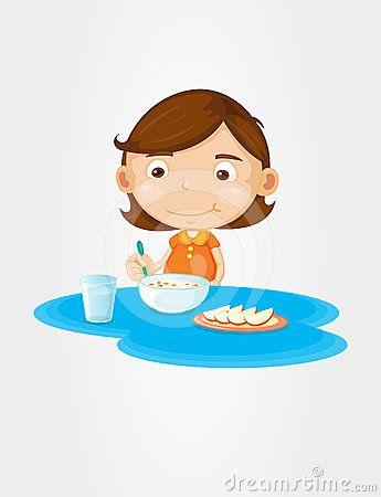 Breakfast clipart kid. Eat girl google search