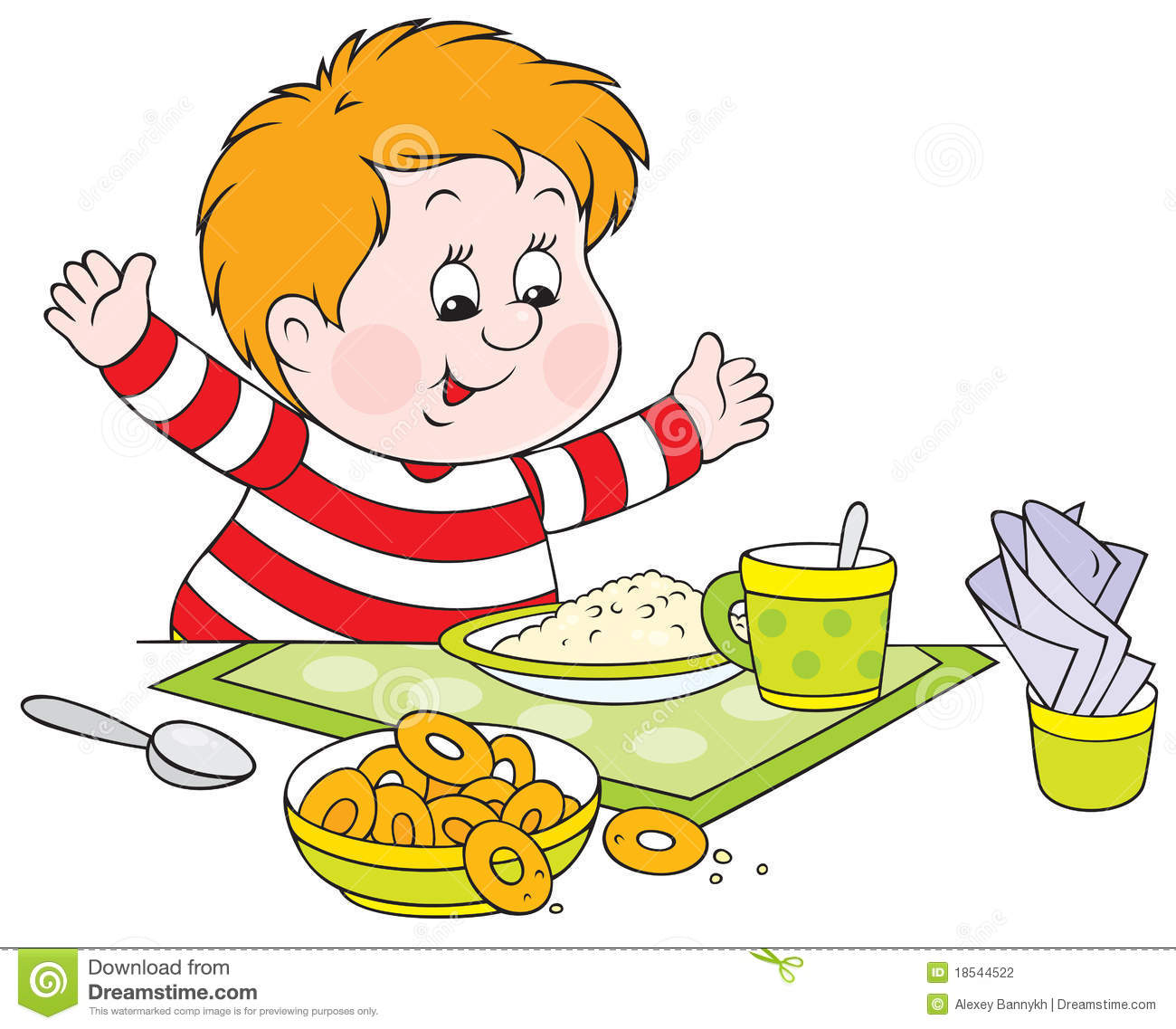Breakfast clipart kid.  collection of boy