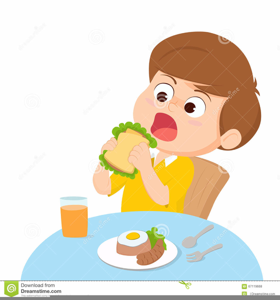 Eating free images at. Breakfast clipart kid
