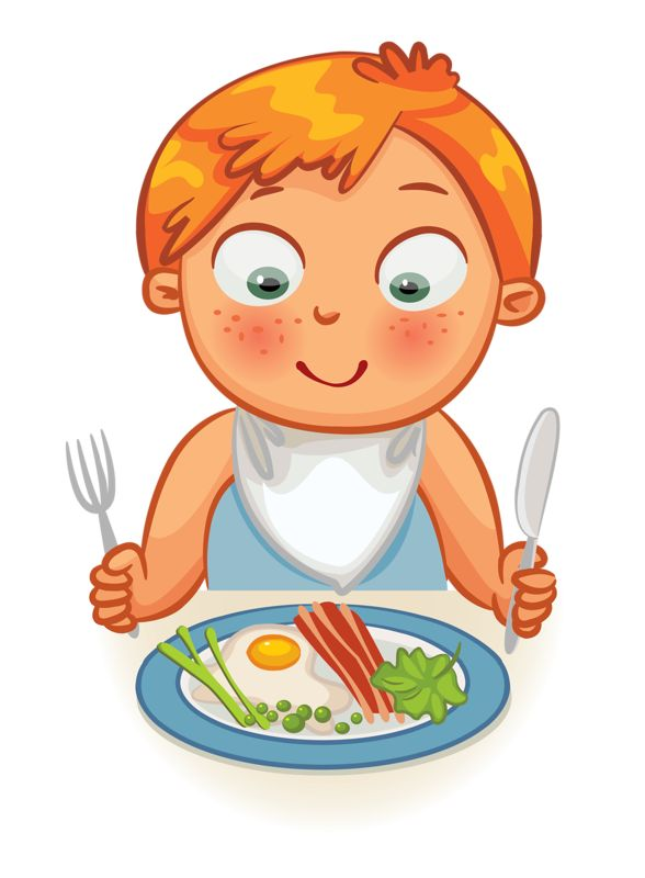 collection of boy. Breakfast clipart kid