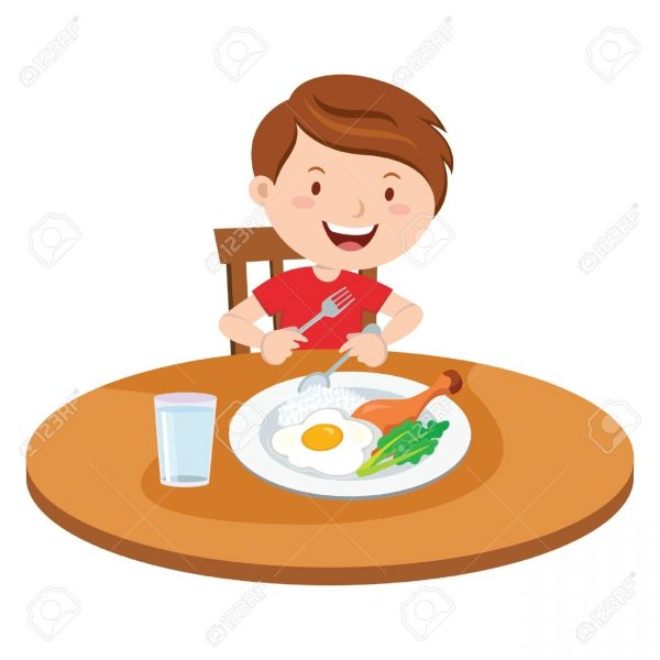 Collection of free dining. Dinner clipart boy