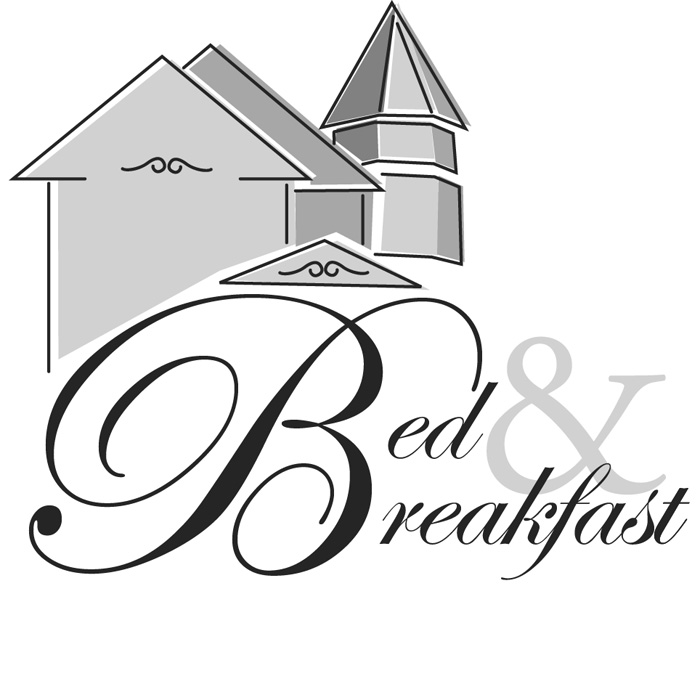 Bed and moreoo hotel. Breakfast clipart logo
