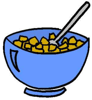 Breakfast ceral free collection. Bowl clipart cartoon