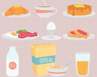 Clip art etsy good. Cereal clipart morning breakfast