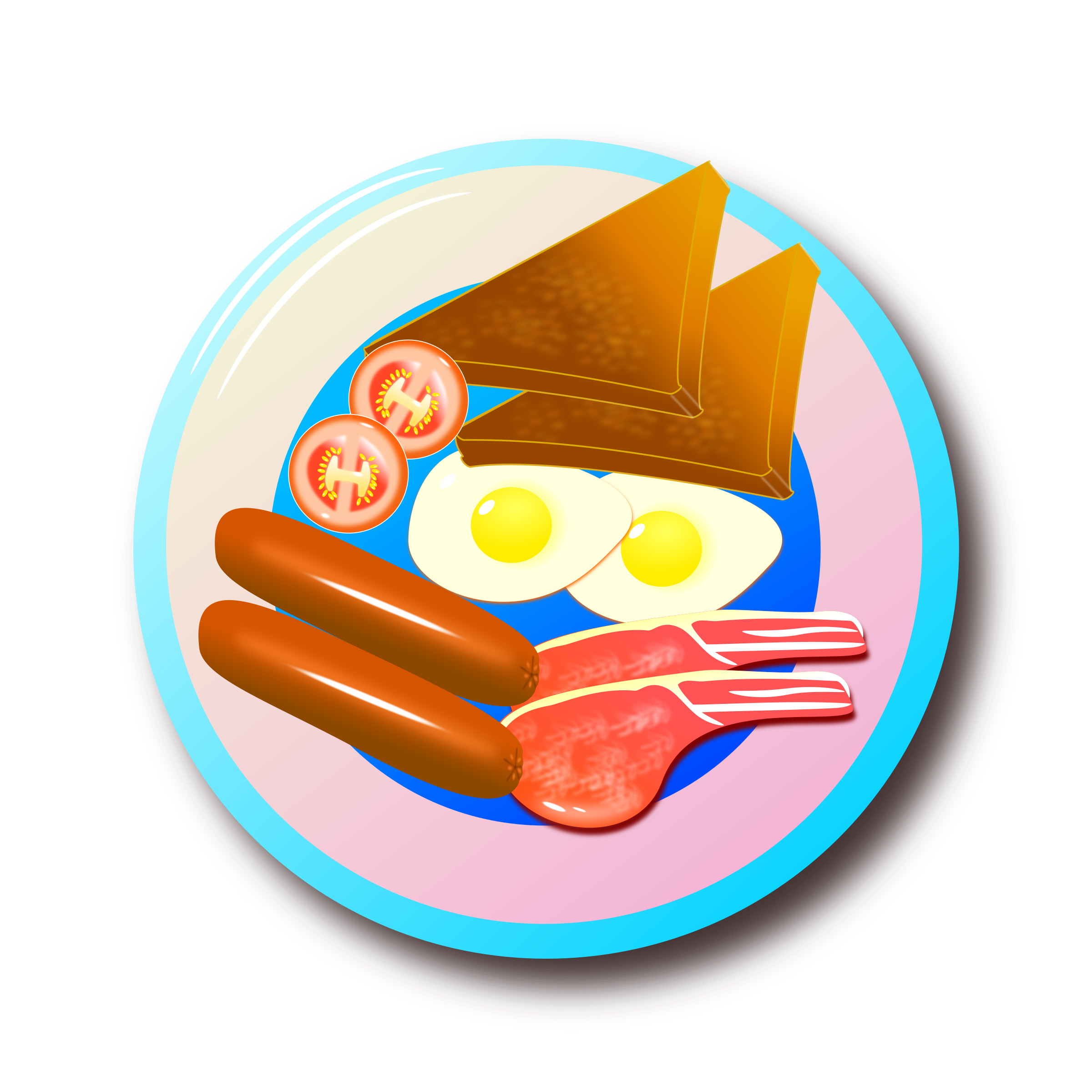 Clipart food breakfast. Full english big image
